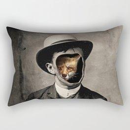 Gentleman Fox Rectangular Pillow