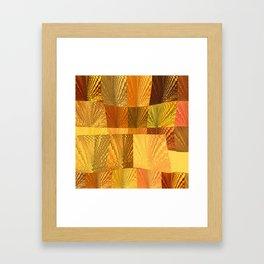 Abstract Digital Artwork Golden State Framed Art Print