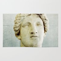 roman Area & Throw Rugs featuring Roman Statue by ZenzPhotography