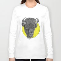 bison Long Sleeve T-shirts featuring Bison by Triple_S_Art