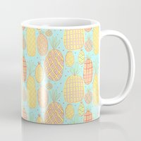 pineapples Mugs featuring Pineapples by stephstilwell