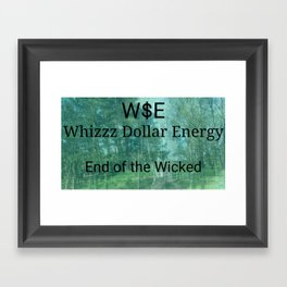 End of the Wicked Framed Art Print