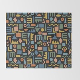 Colorful Shapes Throw Blanket