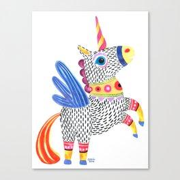 Unicornio alebrije Canvas Print