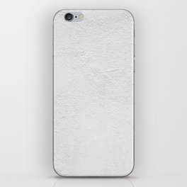 White Wall Texture (Black and White) iPhone Skin