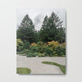 Relax at a Japanese Garden Metal Print