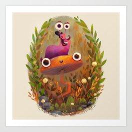 Slug Buddy Art Print