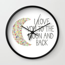 I Love You to the Moon Wall Clock