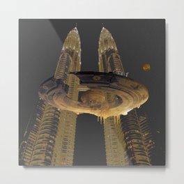 Round airship Metal Print