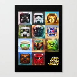 App Icon Wars Collected Works Canvas Print