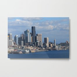 Seattle from the sound Metal Print