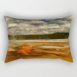 Hot And Colorful Thermal Area Rectangular Pillow