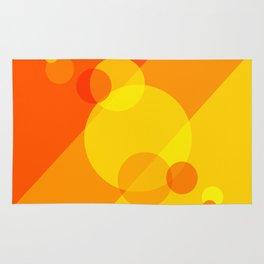 Orange Spheres Abstract Rug