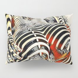 1457s-AK Powerful Nude Woman Kandinsky Style Rear View by Chris Maher Pillow Sham