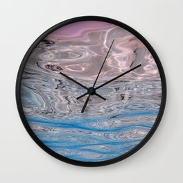 Turquoise Sea Of Tropical Maldives Wall Clock