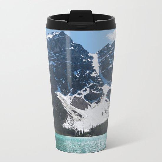 Landscape | Lake Moraine | Alberta | Wild | Nature Metal Travel Mug