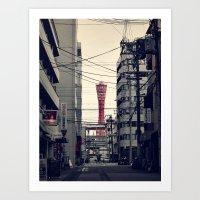 kobe Art Prints featuring Kobe Cables by Dora