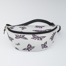 Fly With Pride: Asexual Flag Butterfly Fanny Pack