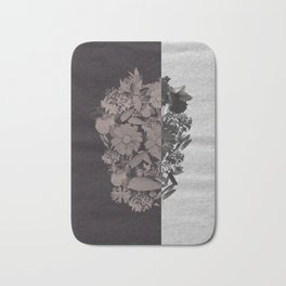 Two Toned Skull Bath Mat