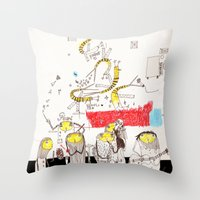 jazz Throw Pillows featuring Jazz by Nayoun Kim