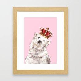 Prince Baby Polar Bear Framed Art Print