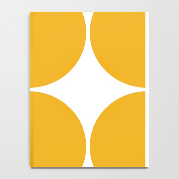 Mid Century Modern Yellow Square Notebook