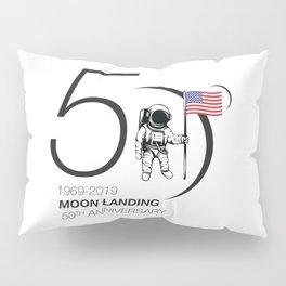 Moon landing 50th year anniversary Pillow Sham
