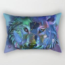 wolf tropical art decor Rectangular Pillow