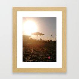 the dying sun  Framed Art Print