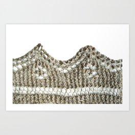 Knitted edging detail Art Print