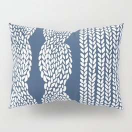 Cable Row Navy 1 Pillow Sham