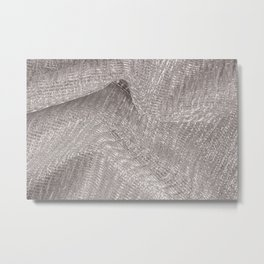 Sparkling metallic textile background Metal Print