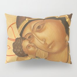 Orthodox Icon of Virgin Mary and Baby Jesus Pillow Sham