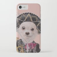 mexican iPhone & iPod Cases featuring Mexican Chihuahua by Rachel Waterman