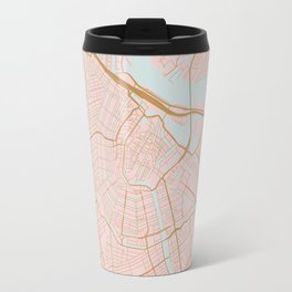 Amsterdam map Travel Mug