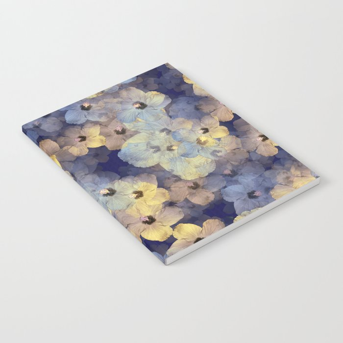 Floral Mauve-Blue-Yellow Notebook