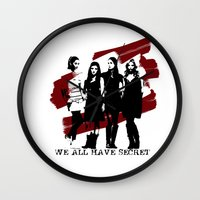 pretty little liars Wall Clocks featuring Pretty Little Liars by Rose's Creation