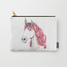 Pink hair unicorn Carry-All Pouch