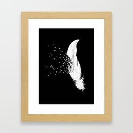 Birds of a Feather (Black) Framed Art Print