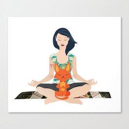 Yoga partners Canvas Print