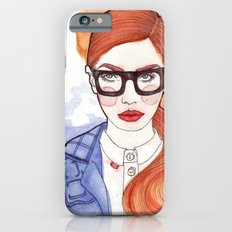 Redhead With Glasses iPhone 6s Slim Case