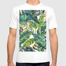 banana life White Mens Fitted Tee LARGE