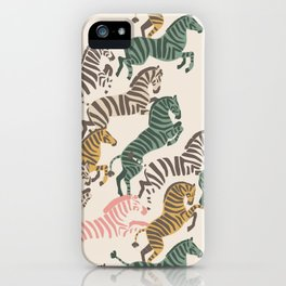 Zebra Stampede iPhone Case