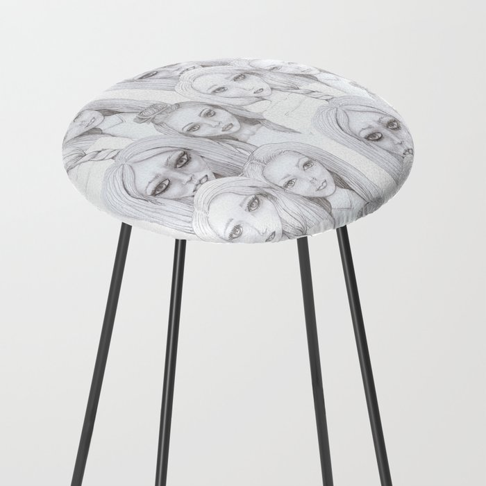 Strong Women Counter Stool By Wildredhead Society6