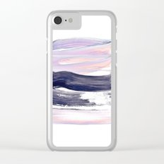 summer pastels Clear iPhone Case