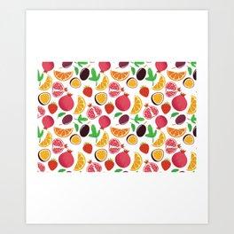 Fresh Fruit Portrait Art Print