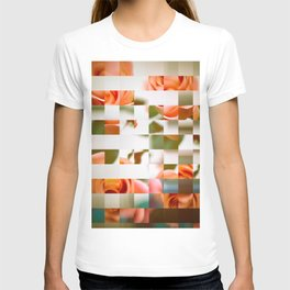 Pixel flowers T-shirt