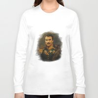 replaceface Long Sleeve T-shirts featuring Tom Selleck - replaceface by replaceface