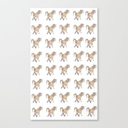 Unicorn pattern Canvas Print
