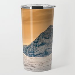 Chamois in the snow Travel Mug
